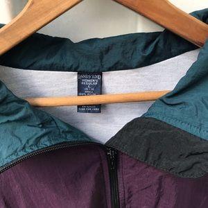 Vintage Jackets & Coats - Vintage Colorblock Windbreaker Lands' End